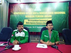 SIARAN PERS Pimpinan Pusat GP ANSOR