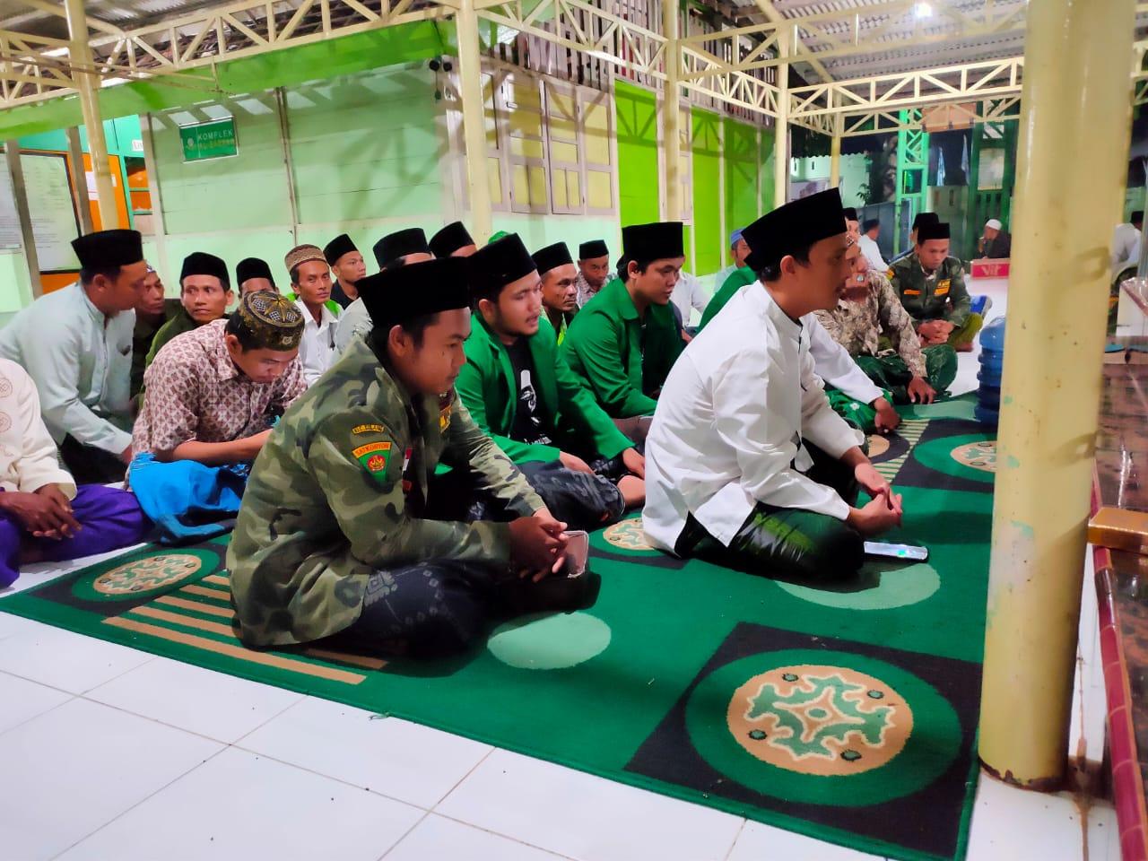 Sukseskan Haul Mbah Syahid, Ansor Sulang Ngloloni Tahlilan Berjamaah